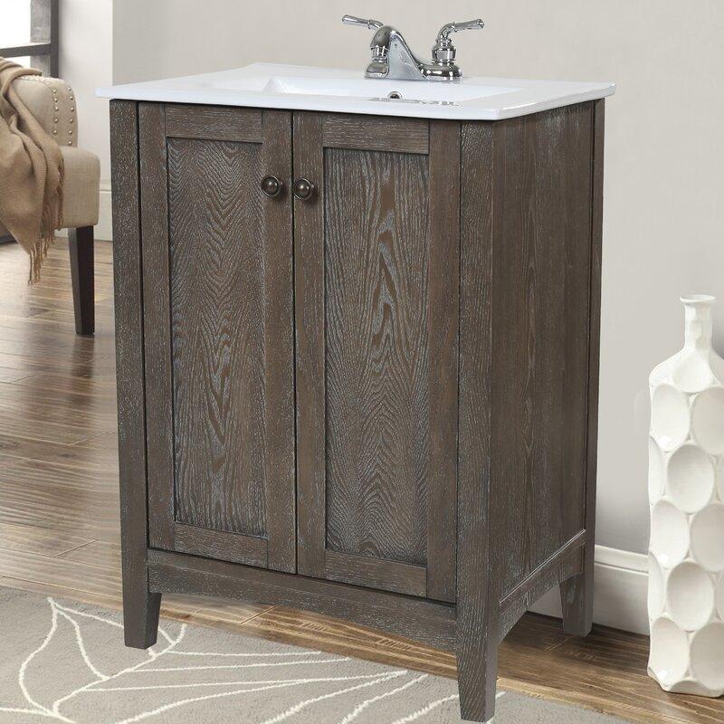 """Bathroom Vanities 24 X 16 charlton home jeremiah 24"""" single bathroom vanity set & reviews"""