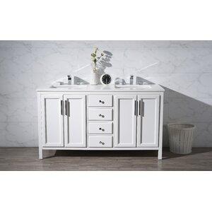 Carpentier 59 Double Bathroom Vanity Set