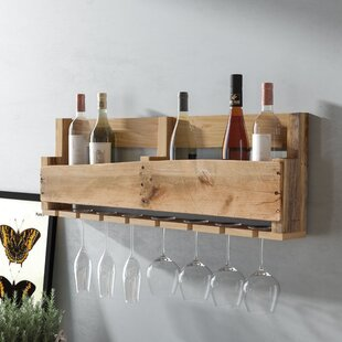 Malissa 8 Bottle Wall Mounted Wine Bottle..