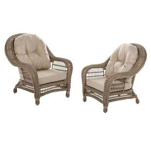 Bungalow Rose Procopio Patio Chair with C..