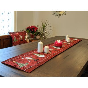 Ortiz Here Comes Woven Tapestry Table Runner