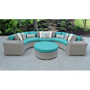Coast Outdoor 6 Piece Sectional Seating Group with Cushions