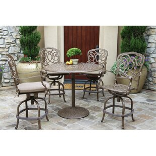 Astoria Grand Dolby 5 Piece Bar Height Dining Set with Cushions