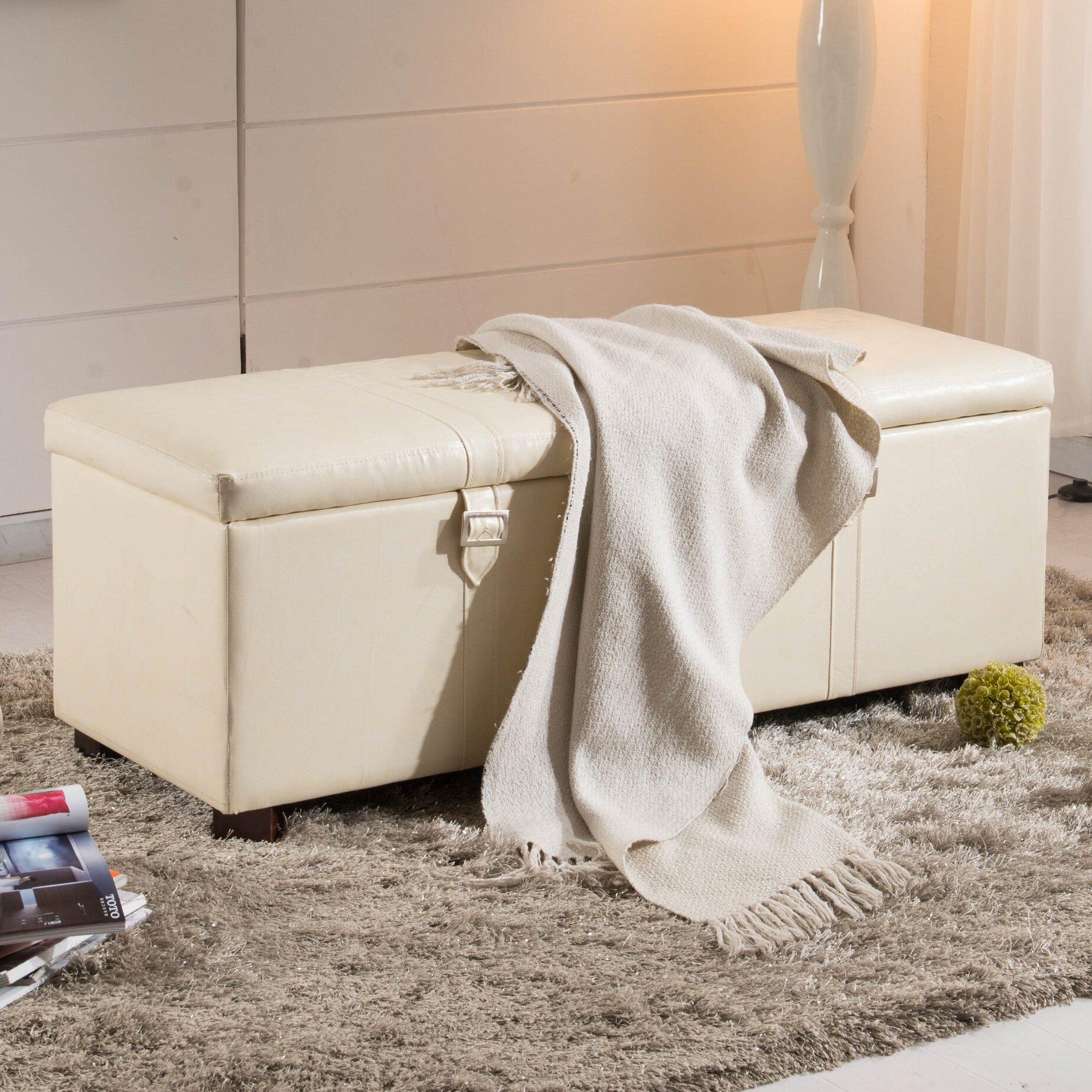 Noya Usa Castilian Upholstered Storage Bedroom Bench: NOYA USA Castillian Upholstered Storage Bench & Reviews
