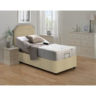 Bonny Upholstered Adjustable Bed With Mattress By Symple Stuff