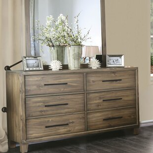 Greyleigh Krum 6 Drawer Double Dresser with Mirror Image