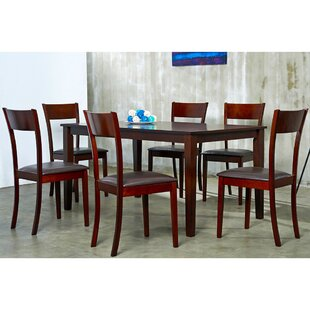 Ida 7 Piiece Solid Wood Dining Set by War..