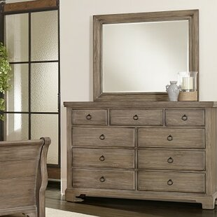 Calila 9 Drawer Dresser with Mirror