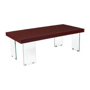 Ronan Wood Grain Finish Center Coffee Table by Wrought Studio