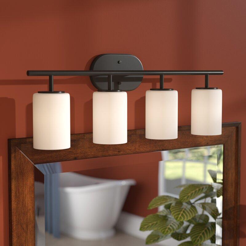 Three Posts Bagwell 4-Light Vanity Light & Reviews | Wayfair