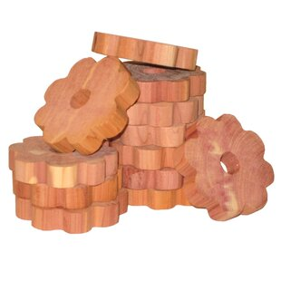 Reviews Solid Cedar Flower Ring for Hangers (Set of 6) ByHousehold Essentials