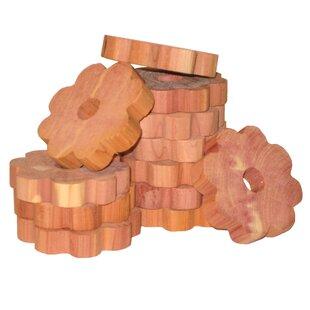 Savings Solid Cedar Flower Ring for Hangers (Set of 6) ByHousehold Essentials