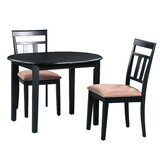 Forsyth 3 Piece Extendable Solid Wood Dining Set by Alcott Hill®
