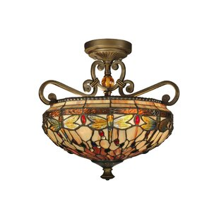 Astoria Grand Patel Dragonfly 2-Light Semi Flush Mount