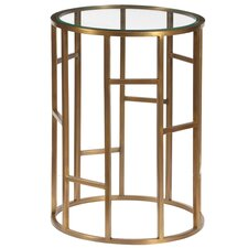 Josephson Geometric End Table with Glass Top by Mercer41