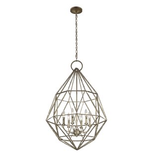 Dyana 6-Light Geometric Chandelier by Willa Arlo Interiors