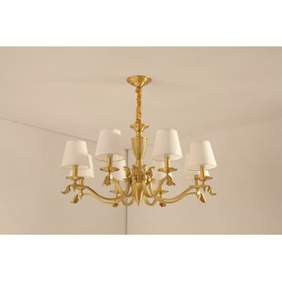 Stutes 8-Light Shaded Chandelier by Charlton Home