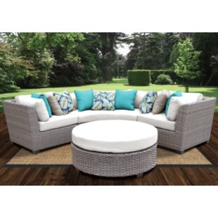 Meeks 4 Piece Sectional Seating Group With Cushions by Rosecliff Heights 2019 Sale