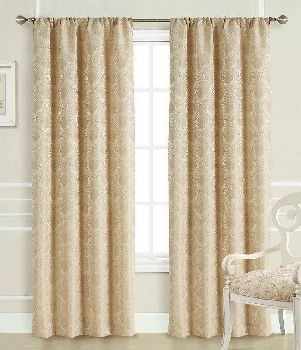 Canora Grey Shurtleff Jacquard Room Darkening Thermal Rod Pocket Single Curtain Panel Wayfair