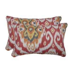 Allerton Coral Indoor/Outdoor Lumbar Pillow (Set of 2)