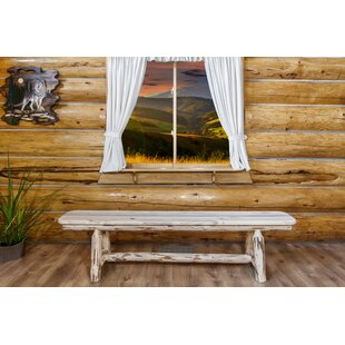Tustin Plank Wood Bench by Loon Peak