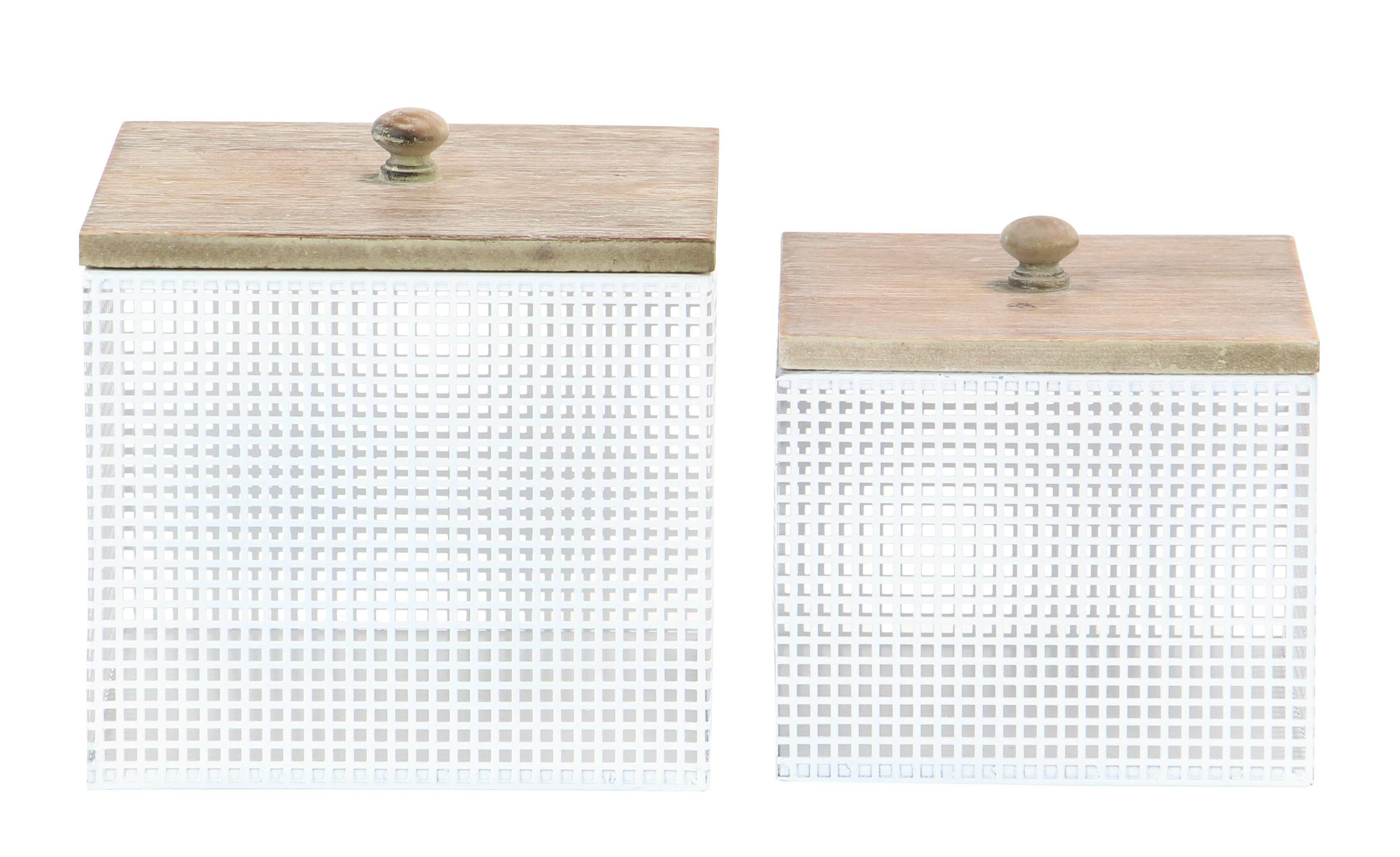 Modern Square Kitchen Canister Set with Lid