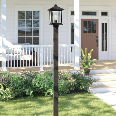 "Sol 72 Outdoor Lovette 1-Light 97"" Post Light Finish: Black, Size: 117"" H x 9.5"" W x 9.5"" D"