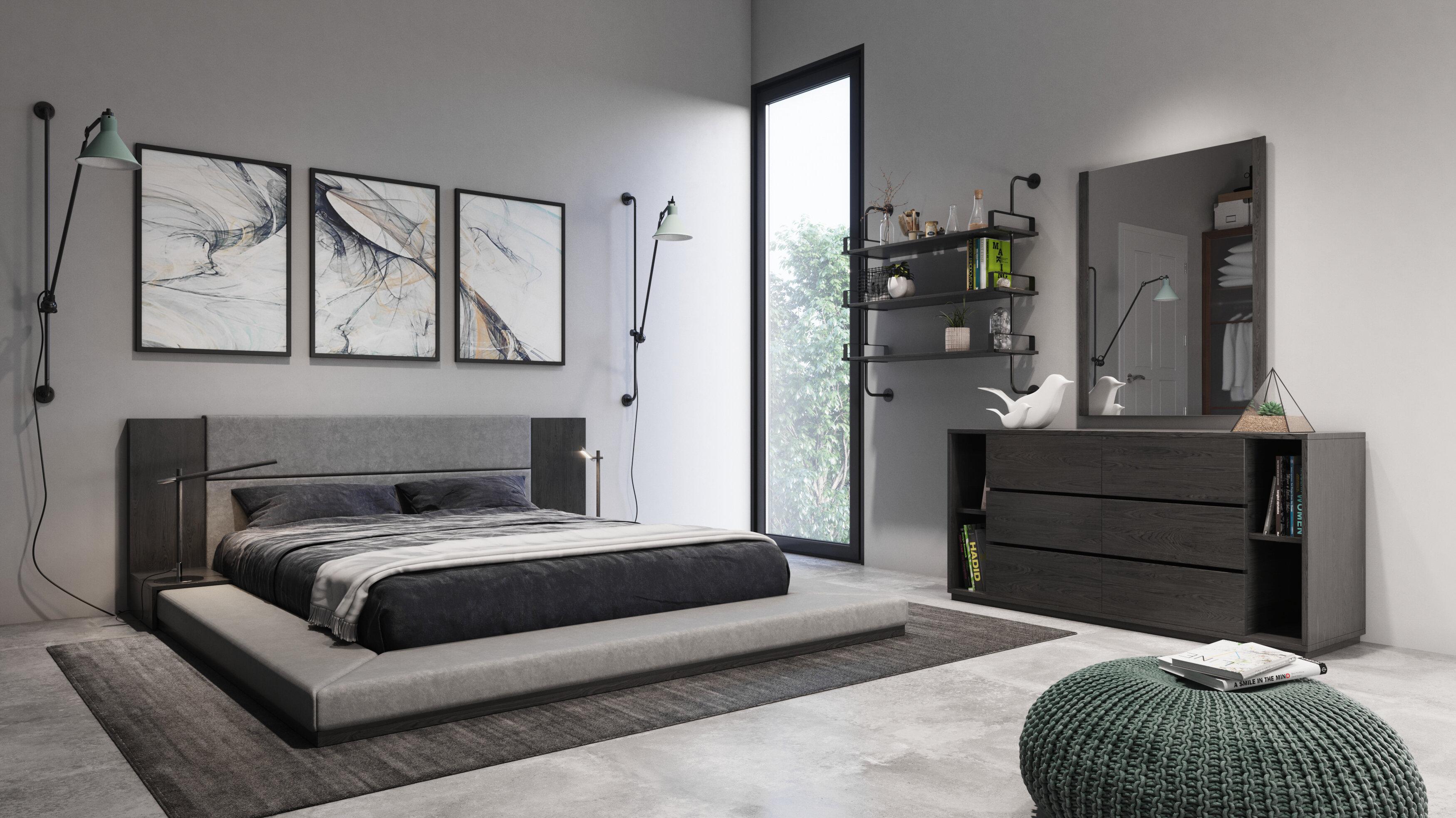 Defalco Platform 3 Piece Bedroom Set