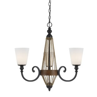 Gracie Oaks Megan 3-Light Shaded Chandelier
