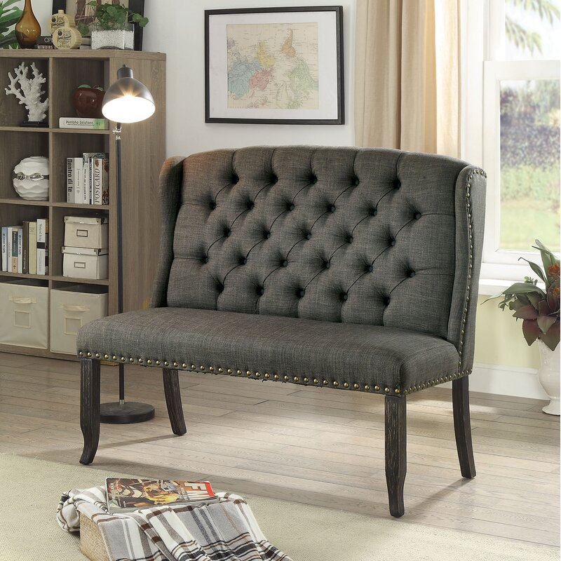 Darby Home Co Meda Tufted High Back 2-Seater Love Seat Upholstered