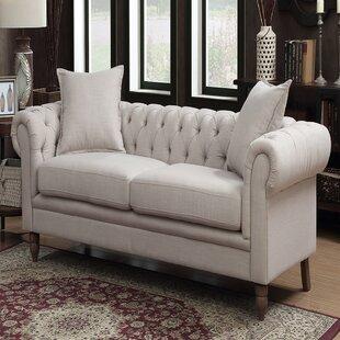 Cordelia Leather Chesterfield Sofa