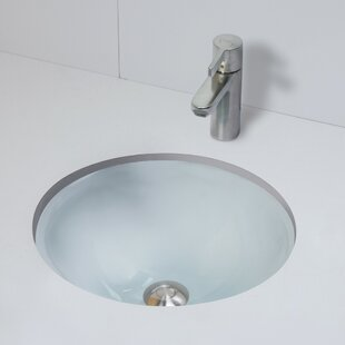 Terra Translucence Glass Circular Undermount Bathroom Sink By DECOLAV