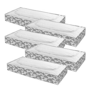 Fabric Underbed Storage (Set Of 5) By Bay Isle Home