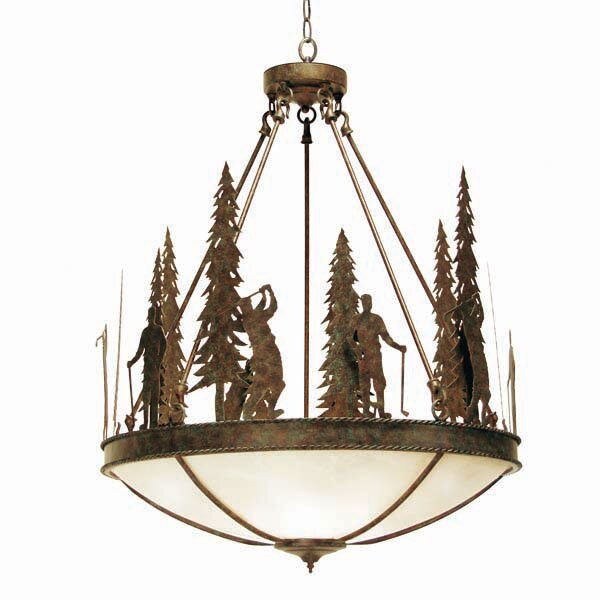 2nd Ave Design Ironwood Pendant with 5 lights