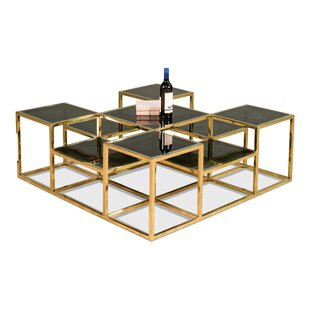 Southwood Coffee Table with Nested Stools