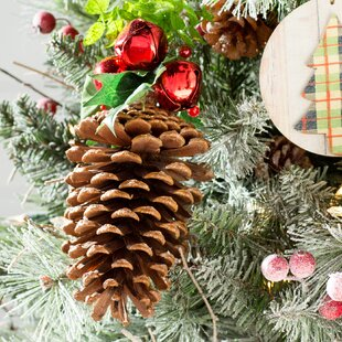 Pinecone Ornament with Bells by Loon Peak