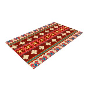 Nandita Singh Borders Maroon Red Area Rug