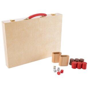 Wood Backgammon Board Game ByHey! Play!
