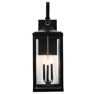 Huntleigh 3-Light Outdoor Wall Lantern by Gracie Oaks
