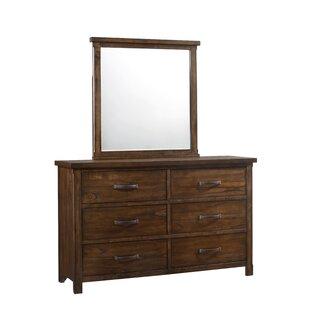 Gracie Oaks Drakes 6 Drawer Double Dresser