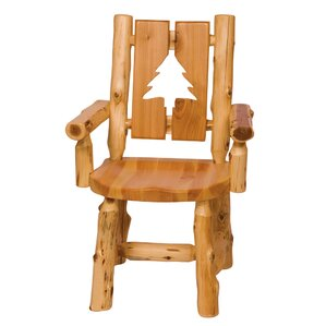 Traditional Cedar Log Cut Out Armchair..