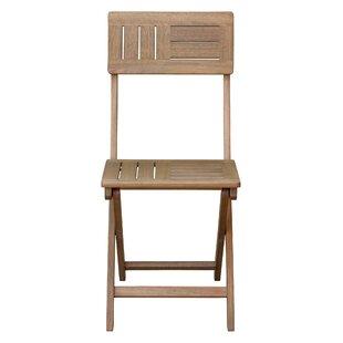 Dungan Folding Patio Dining Chair (Set of 2)