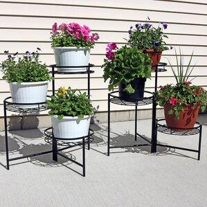 3 Tiered Indoor/Outdoor Plant Stand Set (Set Of 2)