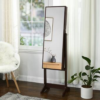 Ebern Designs Mirrored Jewelery Cabinet Armoire, Free ...