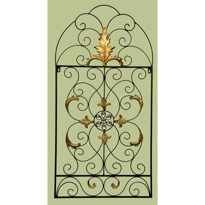 Funky Scroll Metal Wall Decor Crest - Wall Art Collections ...