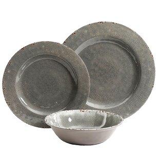 Charlotte 12 Piece Melamine Dinnerware Set, Service for 4