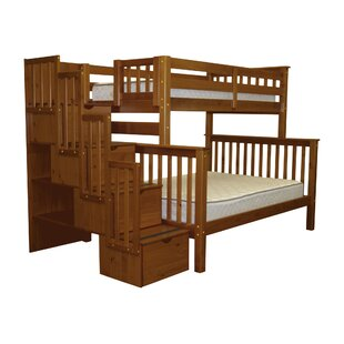 Tena Stairway Twin over Full Bunk Bed with Storage