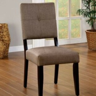 Monk Padded Upholstered Dining Chair (Set Of 2) by Winston Porter 2019 Sale