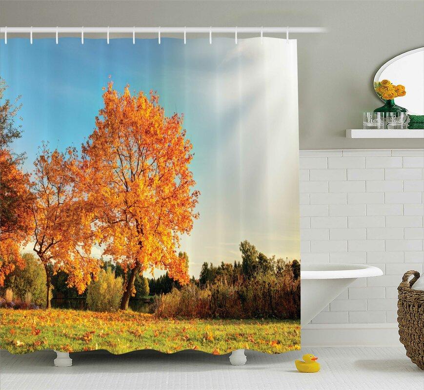 Bleeker Decor Maple Tree Autumn Shower Curtain