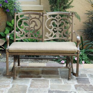 Palazzo Sasso Aluminum Glider Bench with Cushion by Astoria Grand